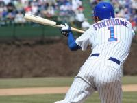 Kosuke Fukudome tries to bunt for a hit.jpg