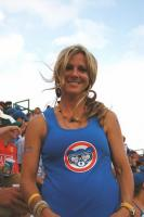 Sexy blonde Cubs fan in Harry Caray t-shirt.jpg
