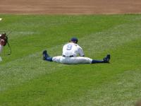 Reed Johnson stretches his legs.jpg