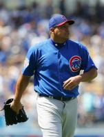 Carlos Zambrano leaves the game unhappy.jpg