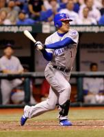 Fukudome pulls a ball to right field.jpg