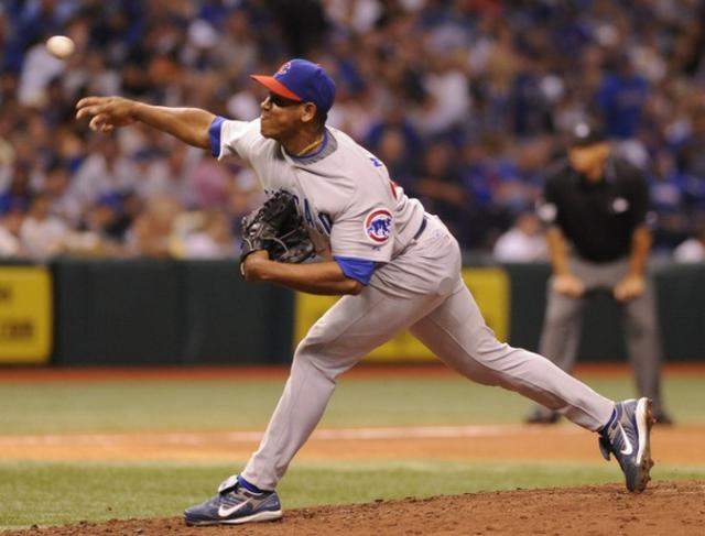 Carlos Marmol guns one to the plate.jpg
