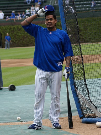 Henry Blanco during batting practice.jpg