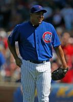 Carlos Zambrano has a laugh on the mound.jpg