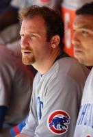 Ryan Dempster rests in the dugout.jpg