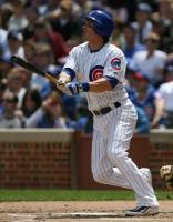 Ryan Theriot watches his home run go out of the park.jpg