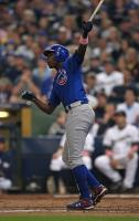 Alfonso Soriano smacks a two run home run wearing a pink wristband on Mother's Day.jpg