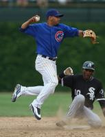 Andres Blanco tries to complete the double play.jpg