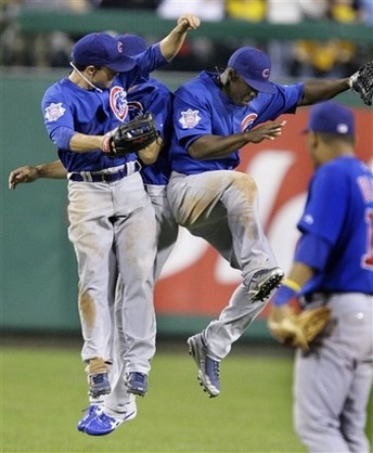 Cubs outfields bump in celebration.jpg