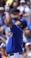 Carlos Zambrano points to the sky after homering.jpg