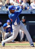 Starlin Castro swings during Cubs Spring Training 2010.JPG