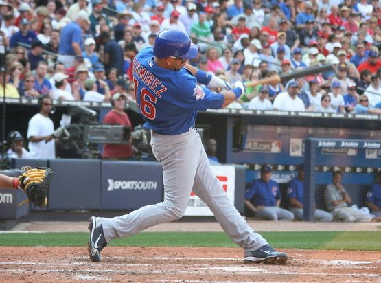 Aramis Ramirez swings during opening day 2010.JPG