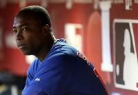 Alfonso Soriano looks on from the Cubs dugout.JPG