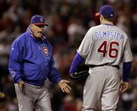 lou piniella not happy with ryan dempster.jpg