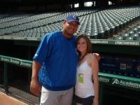 hot cubs fan Megan Ogulnick poses takes pic with zambrano.jpg